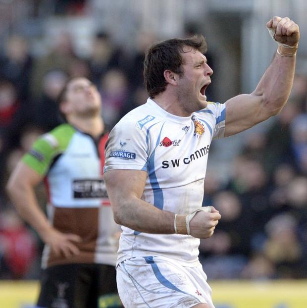 Luke Arscott scored two tries in Exeter's LV= Cup semi-final win over Bath