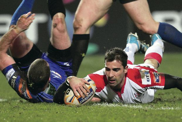 Ruan Pienaar crosses the whitewash for Ulster in last month's five-try demolition of NG Dragons in Belfast
