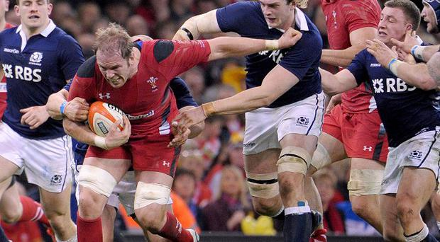 Alun-Wyn Jones, third left, retains lofty ambitions for Wales