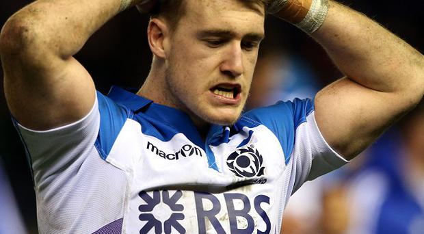 Stuart Hogg was dismissed 23 minutes into the RBS 6 Nations clash with Wales