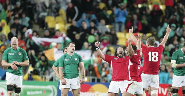 World woes: Ireland hit a low point as they exited 2011's World Cup after losing to Wales