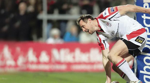 Touchdown: Tommy Bowe has scored three tries in three games since coming back from injury