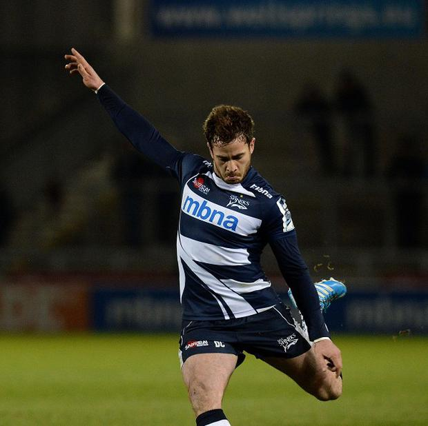 Danny Cipriani, pictured, scored all of Sale's points from the penalty tee as they beat Bath 12-11 on Friday