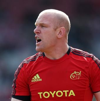 Paul O'Connell wrapped up an emphatic six-try victory for Munster
