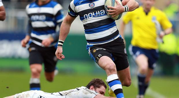 Horacio Agulla goes over for Bath's fifth try