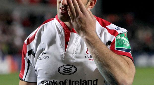 Ruan Pienaar injured his shoulder against Saracens