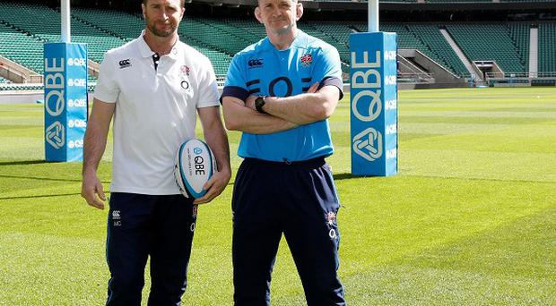 England assistant coaches Mike Catt (left) and Graham Rowntree