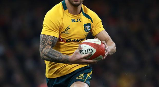 Quade Cooper, pictured here playing for Australia, kicked 10 points for the Reds as they lost to the Brumbies on Friday