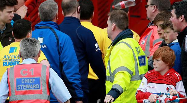 Gloucester say they have identified the person responsible for throwing a plastic bottle in the direction of referee Tim Wigglesworth at Kingsholm on Saturday