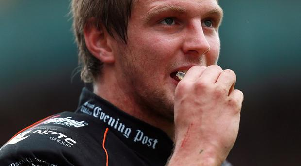 Dan Biggar, pictured, scored 12 points in a losing cause for the Ospreys