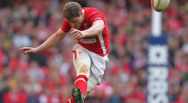 Rhys Priestland, pictured here playing for Wales, kicked 14 points for Scarlets