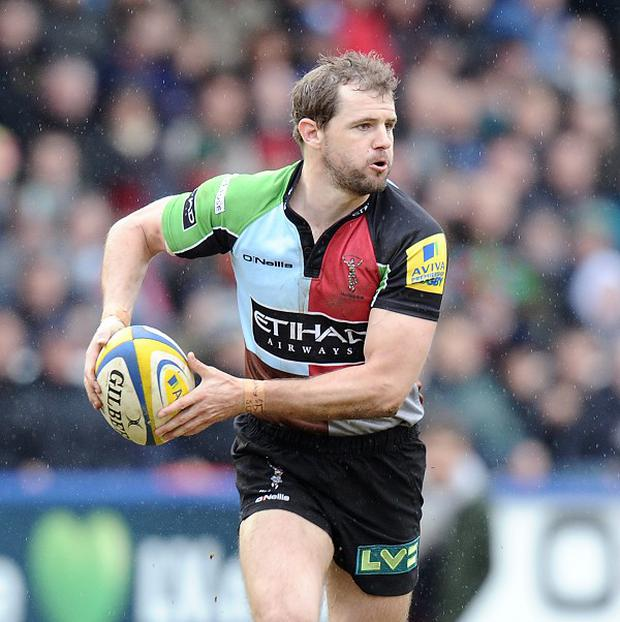 Nick Evans scored 15 points in Harlequins' win at Exeter