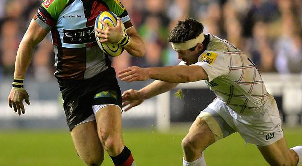 Mike Brown, left, has shed his 'Mr Angry' image according to Harlequins boss Conor O'Shea