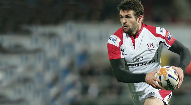 Final fling: Jared Payne comes up against the great Brian O'Driscoll for the last time in tonight's Pro12 semi-final at the RDS in Dublin
