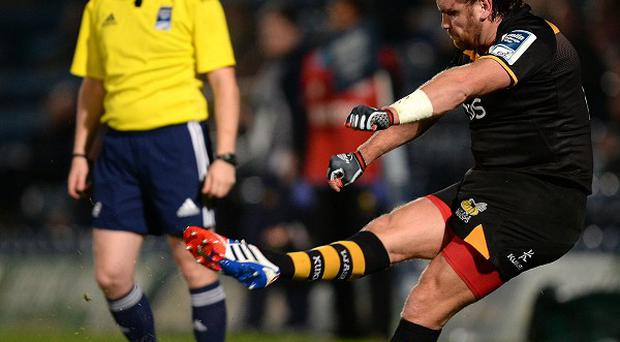 Wasps fly-half Andy Goode, pictured right, landed the match-winning penalty against Stade Francais on Sunday