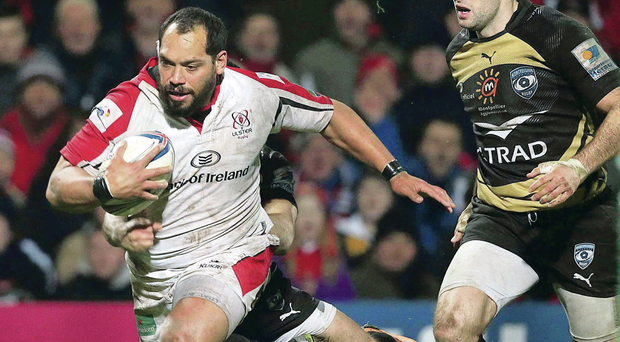Keep on running: All Black ace John Afoa gave his all to help Ulster achieve succes