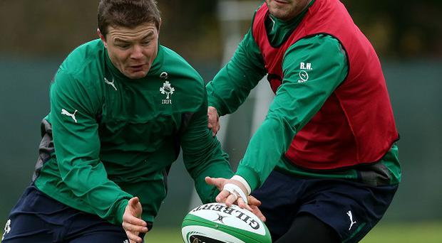 Robbie Henshaw, right, has been ruled out of Ireland's summer tour with hand trouble