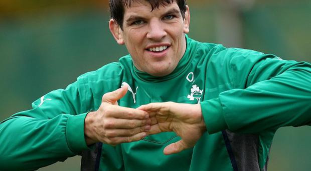 Donncha O'Callaghan, pictured, will follow in his brother's footsteps when playing for the Barbarians on Sunday