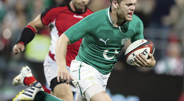 Running out of time: Darren Cave hoping to be Ireland's next No 13
