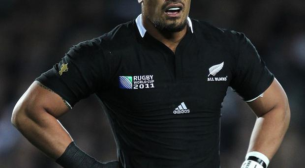 Jerome Kaino was a try scorer for the Blues