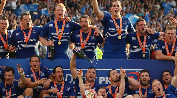 Leinster celebrate their victory