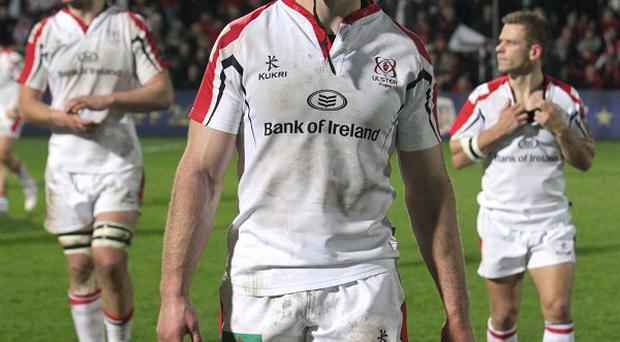 Stephen Ferris, centre, has been forced to call time on his playing career