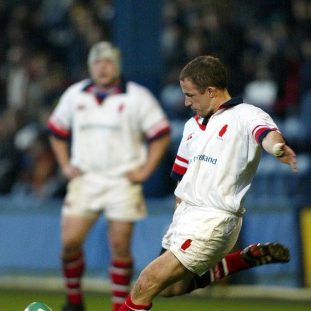 David Humphreys, pictured here playing for Ulster, is being tipped to take over as Gloucester director of rugby.
