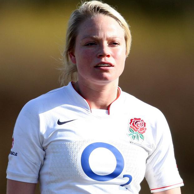 Francesca Matthews scored one of England's four tries in the final