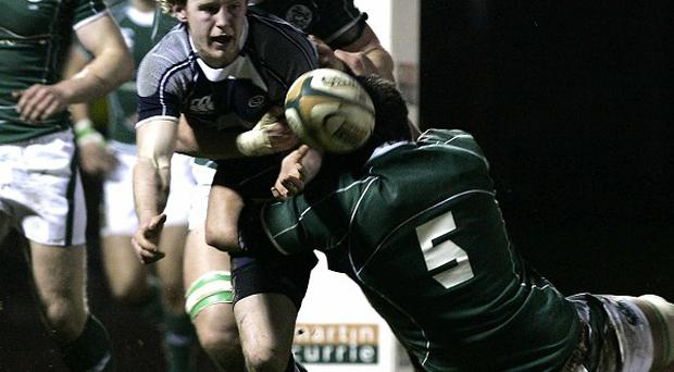 Ireland Under-20 James Sandford, right, is one of 14 players to have signed for London Welsh this week