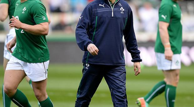Joe Schmidt, centre, believes Ireland have plenty of work to do after beating Argentina