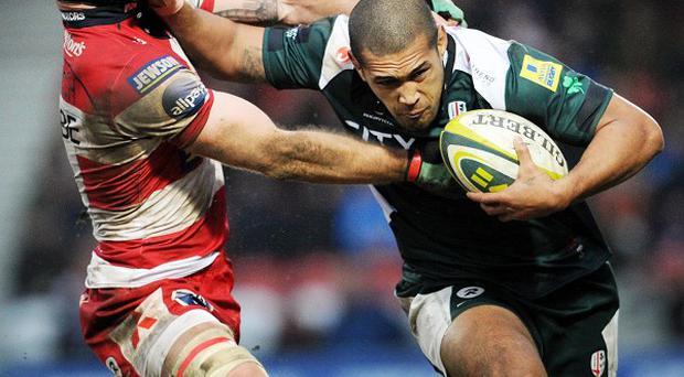 Chris Hala'ufia, right, has signed for the Scarlets after six years with London Irish