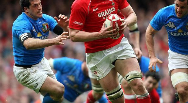 Wales lock Ian Evans, who is to join Bristol from the Ospreys