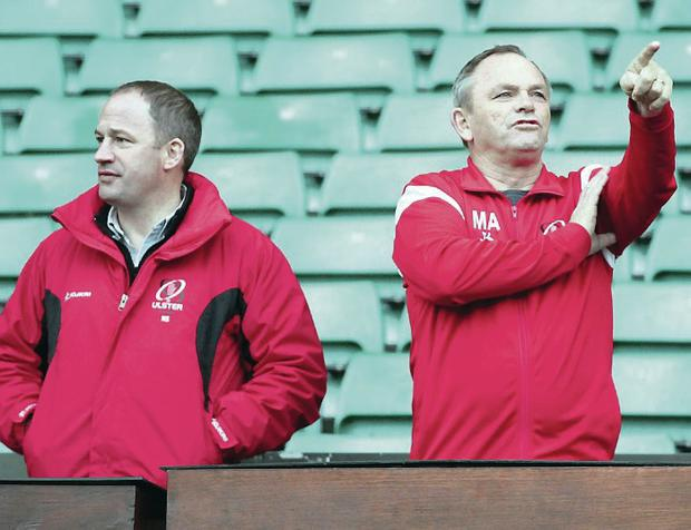 Double departure: Both Director of Rugby David Humphreys (left) and coach Mark Anscombe have moved on