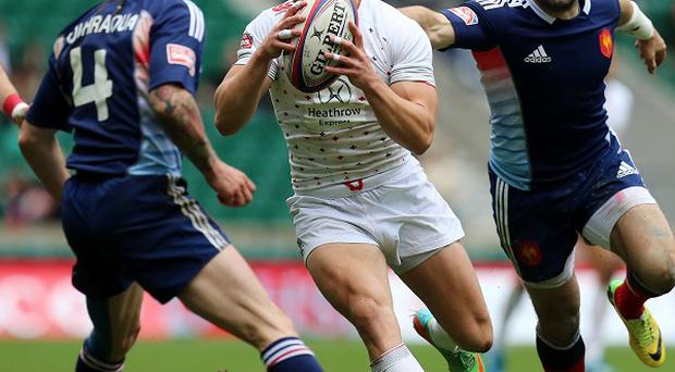 England's Tom Mitchell is hoping to claim the scalp of the All Blacks in the Glasgow 2014 Rugby 7s