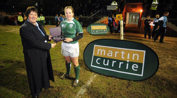 Niamh Briggs, right, scored 13 points in Ireland's victory