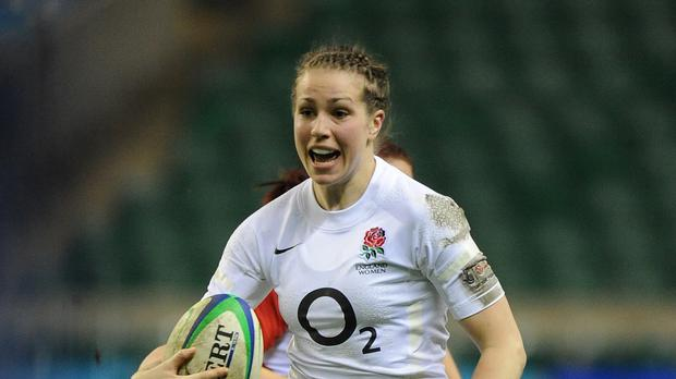 Emily Scarratt scored a try and kicked 15 points for England