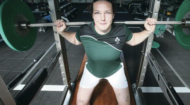 Ready for lift-off: Paula Fitzpatrick will come into the Ireland side for the clash with world champions New Zealand