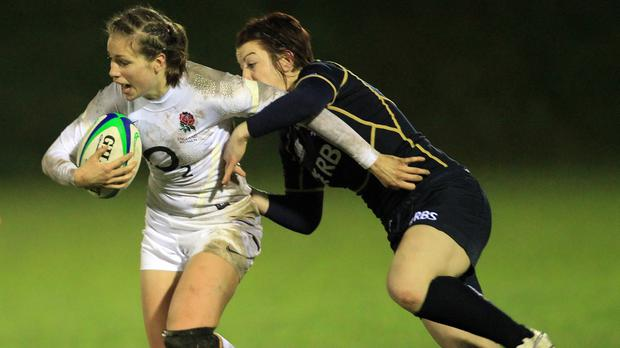 Emily Scarratt, left, believes women's rugby is as competitive as ever