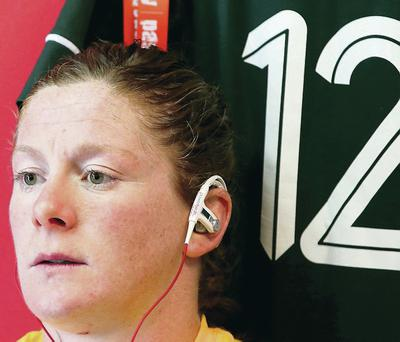 In the zone: Ulsterwoman Grace Davitt has played a big role in Ireland's run to the World Cup semi-final