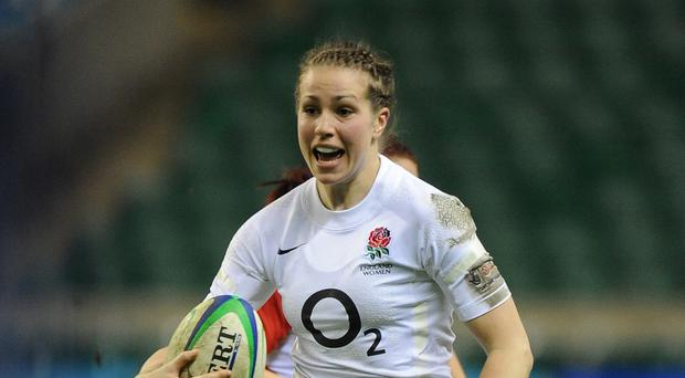 Emily Scarratt, pictured, was part of the England side that won the Women's World Cup on Sunday