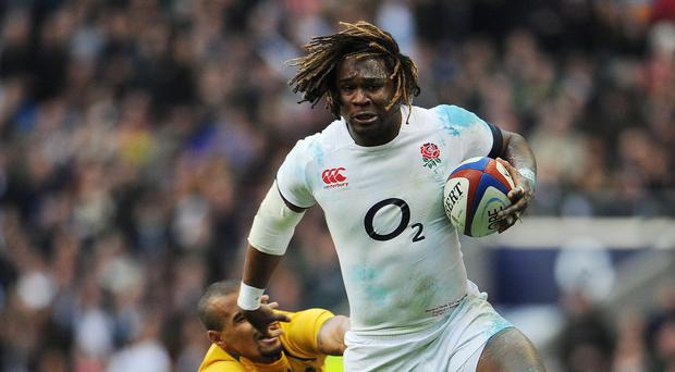 Marland Yarde, pictured, has been tipped to secure a starting berth for England at next year's Rugby World Cup