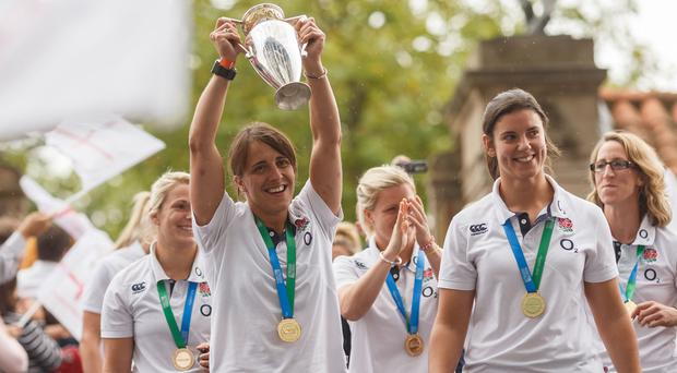 Katy Mclean's England team lifted the Women's World Cup by defeating Canada in the final