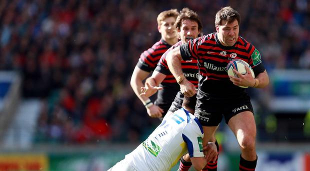 Phil Thiel joins Saracens as short-term cover for Schalk Brits, pictured right