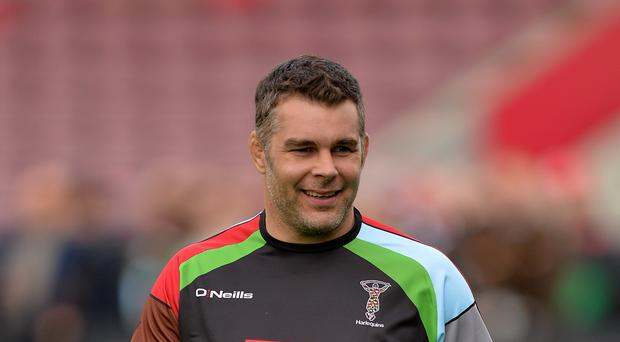 Nick Easter cut a relieved figure after Harlequins sneaked past London Irish at Twickenham