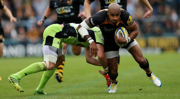 Tom Varndell scored a try for Wasps as they beat Northampton at Adams Park