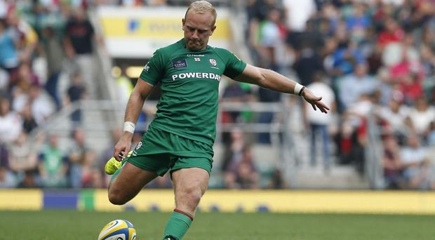London Irish's Shane Geraghty, pictured, played at inside centre against Newcastle