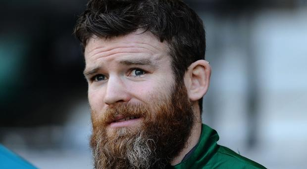 Gordon D'Arcy, pictured, could switch centre berths and fill the No13 Ireland shirt vacated by Brian O'Driscoll.