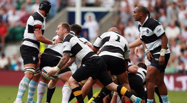 The Barbarians in action against an England XV at Twickenham last season