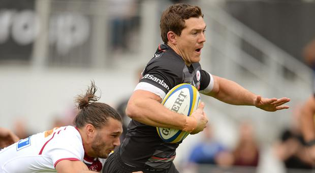 Alex Goode scored a second-minute try in Saracens' bonus-point win