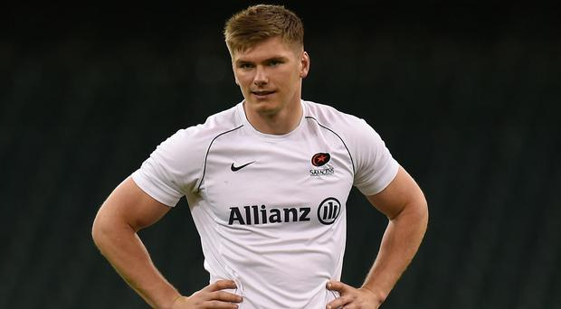 Owen Farrell, pictured, will not be out of action for too long, according to Saracens director of rugby Mark McCall